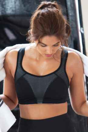 Energy Fearless Non Wired Full Cup Sports Bra - Black/White