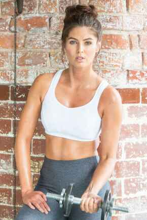 Energy Fearless Non Wired Full Cup Sports Bra - White