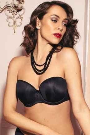 Hepburn Padded Strapless Bra - Black