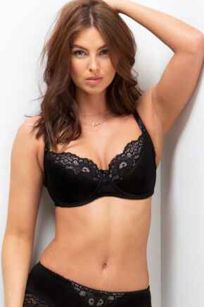 Amour Accent U/W Non Padded Bra - Black/Pink