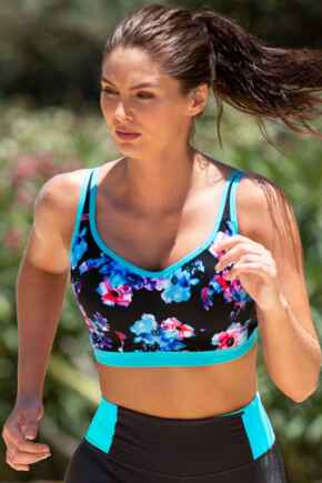 Energy Lightly Padded Underwired Sports Bra - Blue Pink