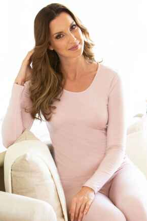 Second Skin Thermal Long Sleeve Top - Pink