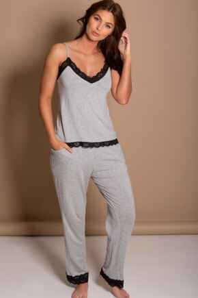 Sofa Loves Lace Trouser - Grey Marl