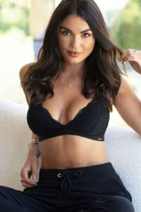 India Removable Padded Soft Triangle Bra - Black