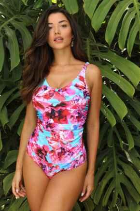Heatwave Scoop Neck Control Swimsuit  - Pacific