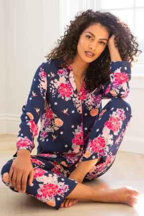 Luxe Woven Pyjama - Kiku Navy